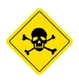Danger sign with skull symbol Deadly danger sign vector image