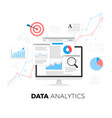data analytics information and web development vector image