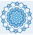decagonal blue and white snowflake on light blue vector image vector image