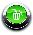 Delete 3d round button vector image vector image