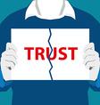 Destroy trust vector image