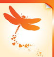 Dragongly decal orange vector image vector image