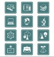 education objects icons teal series vector image vector image