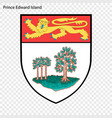 emblem of prince edward island province of canada vector image vector image