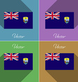 Flags Saint Helena Set of colors flat design and vector image