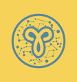 flat icon zodiac sign aries vector image vector image