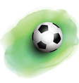 football on watercolor background 1506 vector image