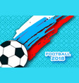 football player in paper cut style origami sport vector image vector image