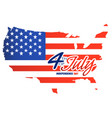 fourth of july independence day paint united state vector image vector image