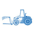 front loader agriculture vehicle concept vector image vector image