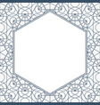 geometry decorative frame vector image