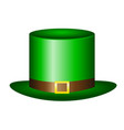 green bridal hat for the holiday st patrick s day vector image vector image