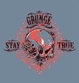 Grunge Skull Print 5 vector image vector image