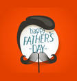 happy fathers day greeting card with abstract face vector image