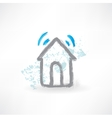 house grunge icon vector image
