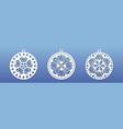 laser cnc cut pendants coasters mandala wall art vector image vector image