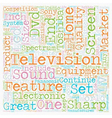 Latest Top TV Brands To Hit The Market text vector image vector image