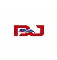 Letter BJ Logo vector image vector image