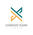 letter x company logo vector image vector image