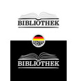 library logo for germany hand-drawn icon an vector image vector image