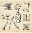 literature concept pictures vintage hand drawings vector image