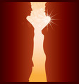 man woman and sunrise vector image vector image