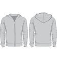 Mens hoodie shirts template Front and back views vector image vector image