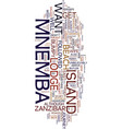 mnemba island lodge text background word cloud vector image vector image