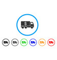 money delivery rounded icon vector image vector image