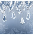 New Years holiday with hanging tree EPS8 vector image vector image