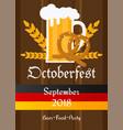 oktoberfest celebration traditional decoration vector image