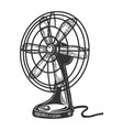 old table fan engraving vector image