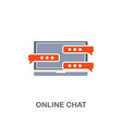 online chat icon premium two colors style design vector image