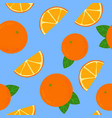 oranges and tangerines seamless pattern whole vector image vector image