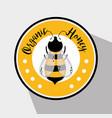 organic honey label vector image