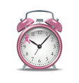 pink alarm clock with pink ribbon vector image vector image