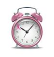 pink alarm clock with ribbon vector image
