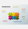 puzzle infographic report template vector image vector image