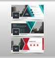 red green corporate business banner template vector image vector image