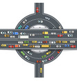 road top view with highways many different vector image vector image