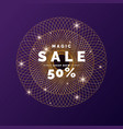 sale banner gold glitter shiny particles on a vector image