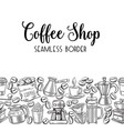 seamless border coffee vector image vector image