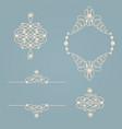 set collection of elegant golden knot frame signs vector image vector image