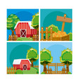 set of farm fresh cartoons vector image vector image