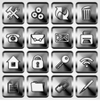 Set of Metallic Square Buttons vector image vector image