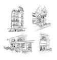 set street cafe bordeaux france hand drawn vector image vector image