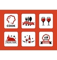 six restaurant icons set vector image