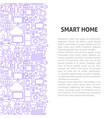 smart home line pattern concept vector image vector image