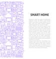 smart home line pattern concept vector image