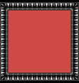 square frame with greek floral ornament ancient g vector image vector image